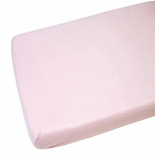 2x Kinderbett Jersey Wiege Spannbetttuch 100% Baumwolle 40x 90cm pink