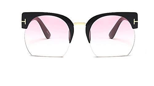 HUOYAN Semi-randlose Sonnenbrille Frauen Klare Linse Sonnenbrille for Frauen Sonnenbrille Vintage (Lenses Color : 05)