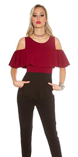 In-Stylefashion - Combinaison - Femme rouge rouge foncé L rouge foncé