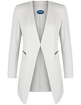 AO 4tuality® Long Blazer kragenlos mit Zipper Gr. S - XXL