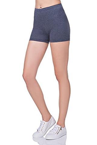 FUTURO FASHION Super Doux Short Coton Extensible Élastique Yoga Slip