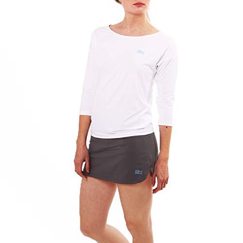 Sportkind Mädchen & Damen Tennis, Fitness, Sport 3/4 Loose Fit Shirt, weiß, Gr. XXXL