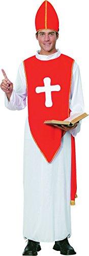 Herren Heilige Kardinal Pope Vikar Junggesellenabschied Kostüm Religiös Priester Bishop