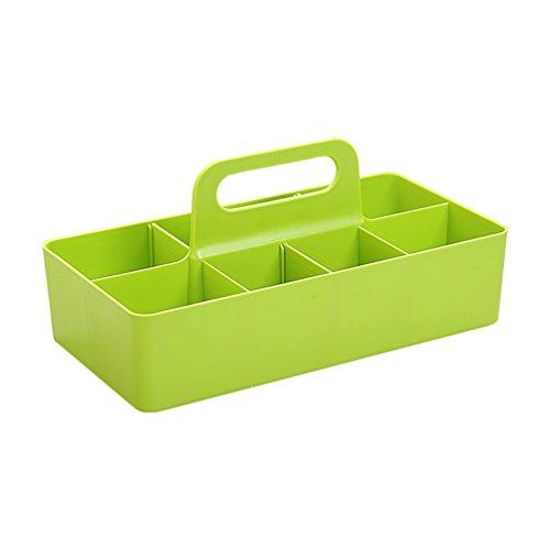 HUPLUE Desktop Storage Box tragbar mit Aufsatz Kosmetik-Sundries Kunststoff-Container Organizer...