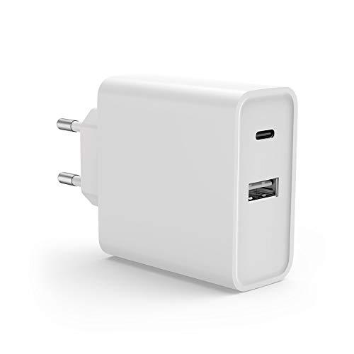 "USB-C Ladegerät mit USB C zu USB C Kabel, Power Delivery 3.0 & 5V 2A USB Netzteil für Lenovo Yoga 720 13"", Yoga 910, Miix 720, IdeaPad 720s, Yoga 370 T470 T470S T570 E570P X270; ThinkPad 13 (1st Gen)"