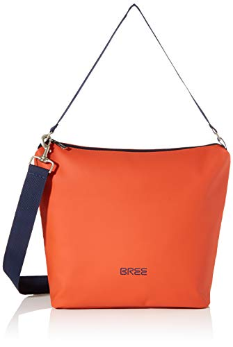 BREE Unisex-Erwachsene Punch 702, Cross Shoulder M W19 Umhängetasche, Orange (Pumpkin), 12x30.5x30 cm