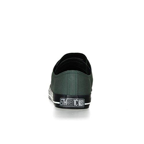Ethletic Black Cap vegan LoCut Collection 17 - Farbe reseda green / jet black aus Bio-Baumwolle Größe 37 - 4