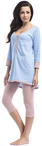Dn-nightwear ensemble coordonné-Femme Bleu - Bleu clair