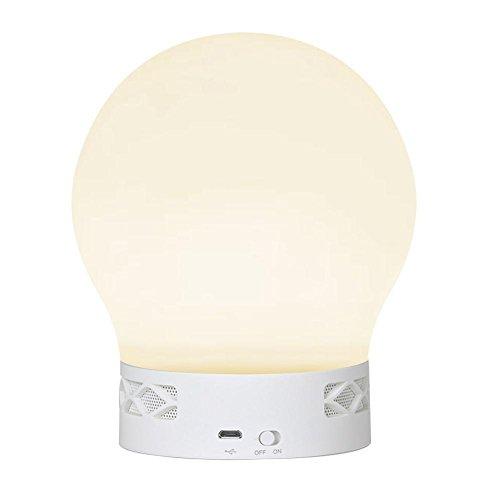 Gladle Bluetooth Smart Touch LED-Stimmungslampe app Gesteuerte Musik Tischlampe Wake-Up Light RGB Lichtwecker Kieselgel mini Portable Lautsprecher Multifunktionaler Farbwechsel Lampe Nachttischlampe