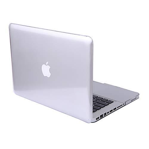 DETUOSI MacBook Air 13.3'' Cover Case,[Glossy Design] Hard Crystal Case para Apple MacBook Air 13.3''(Modelo:A1466 / A1369) Funda Carcasa de Protector-Transparente