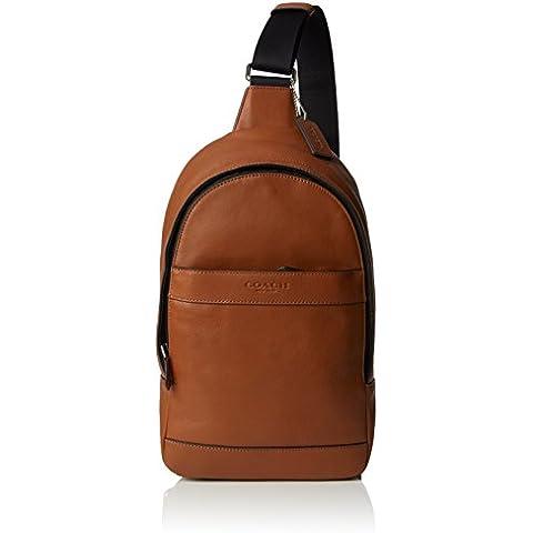 Coach - Bandolera para hombre, color marrón, talla única