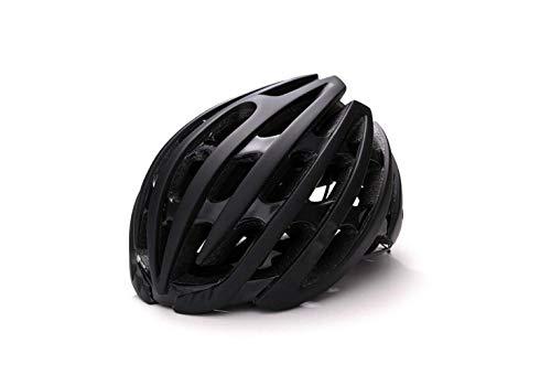 Casco per Mountain Bike Pc Road Mountain Casco per Bicicletta Casco per Bicicletta Di Sicurezza Casco per Bici per Uomo e Donna per Adulti,Nero,L