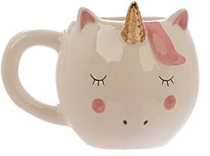 Crema Unicornio con Dorado Cuerno