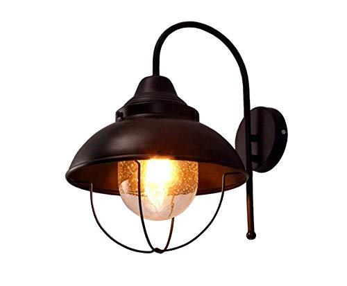 Deckenleuchten Lampen Kronleuchter Pendelleuchten Retro Lichtsemi-Flush Mount Lampe 22Cm E27 Deckenleuchte Küchenlampe Deckenleuchte Industriebeleuchtung Bronze mit Glas Lampenschirm [Energieklasse a -