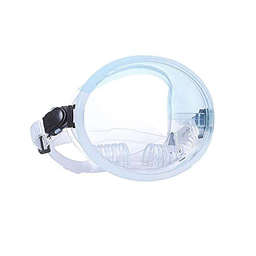 Panorama Wide View Tauchmaske Dauerhafte Aquarianer Tauchen Tauchen Schnorcheln Rahmenlose Maske Gehärtetes Glas Diving Goggle Maske,Weiß -