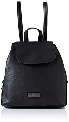 XTI 86146, Bolso mochila para Mujer, (Negro), 25x26x14 cm (W x H x L)