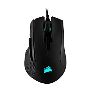 Corsair Ironclaw RGB Optical FPS/MOBA Gaming Mouse (18000 DPI Optical Sensor, 7 Programmable Buttons, RGB Multi-Colour Backlighting, Xbox One Compatible) - Black
