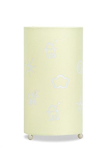 Aratextil Alexia Lampe de Table, Coton, Champagne, 24.5 x 13 cm