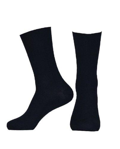 Damen Diabetiker-quarter Socken (10 Paar Gesundheitssocken Baumwolle ohne Gummidruck für Damen und Herren, Farbe:Marine;Größe:39-42)
