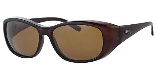Fitsch Online UG REVEX Sonnenbrille für Brillenträger CAT3 M2 braun polarisierte Überbrille