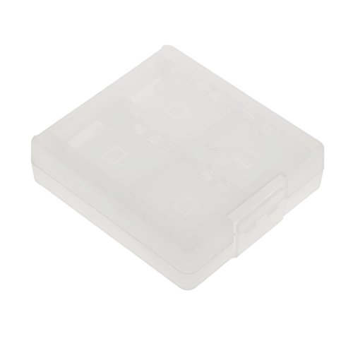 16 En 1 Funda Caja Protectora De Tarjeta Memoria Storage Nintendo 3DS Blanco