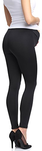 Be Mammy Damen Umstandsleggings 105-SP Schwarz