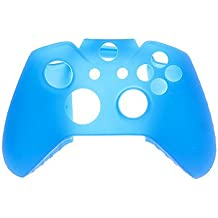 XBOX_ACCESSOIRES_ Caps 2 PCS de champignons et 2 pièces bleu POUSSOIR Grips et étui en silicone pour XBOX ONE (Bijoux Bleu)