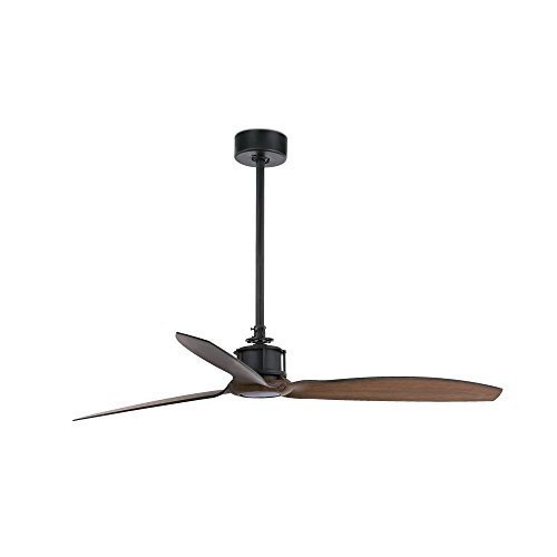 31tlmA5Dm4L. SS500  - Faro Barcelona Just Fan, Ceiling Fan, Black/Wood with DC Motor