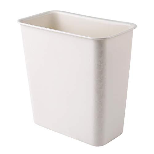 Ljt Kunststoffkorb mit Griffen, schlanker Bürobehälter aus strapazierfähigem Kunststoff, praktische Aufbewahrungsbox für Bad, Küche oder Pantry, weiß (Color : A) -
