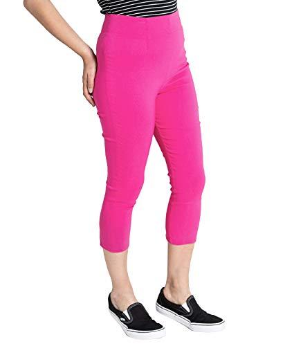 Hell Bunny Damen Caprihose Tina Capris 5343 (UK 8 (XS), Hot Pink)