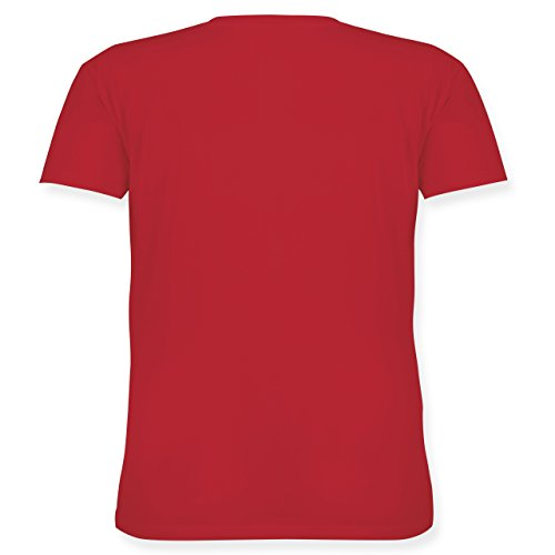 Statement Shirts - Keep calm and ask Mom Mum - Lockeres Damen-Shirt in großen Größen mit Rundhalsausschnitt Rot