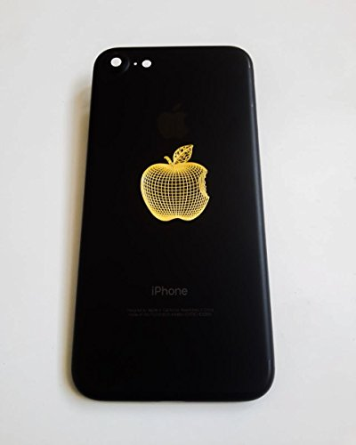 Ajanta Apple Logo 24K Gold Plating Metal Sticker 4037 Pack of 3 Pcs,Mobile Phone Sticker