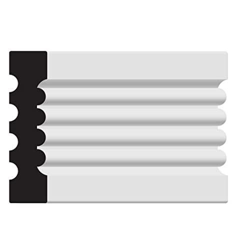 Nucasa MADM150-S Window Casing Molding Sample, Unfinished Maple, .8125-Inch by 3.25-Inch by 6-Inch