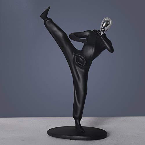 Lee Büste (Kung-fu-Statue, Sport Mann Figur Statue Abstrakt Bruce Lee S.h. Figuarts Kicking Skulptur Sport Kunst Harz Ornament Home Decoration-b 25x15cm(10x6inch))