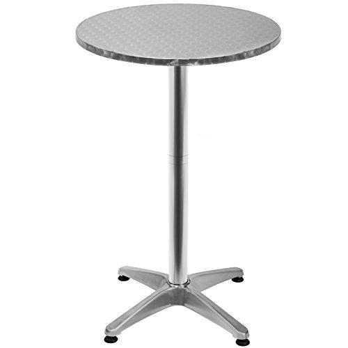 Deuba 100591 Stehtisch, Aluminium, höhenverstellbar 70cm oder 115cm, Ø 60cm