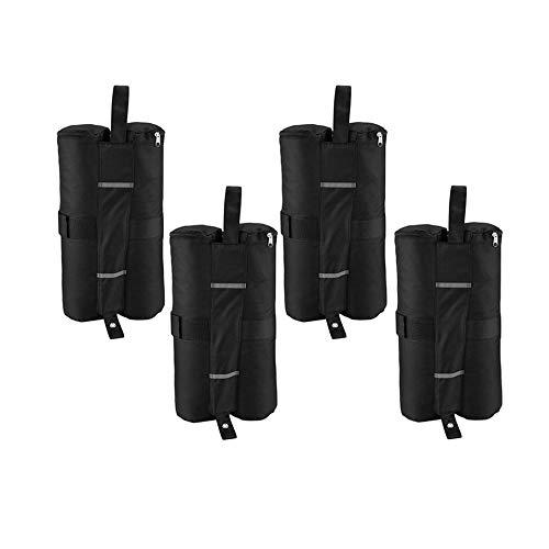 FEKETEUKI 4pcs Portable Canopy Zelt Gewicht Taschen Outdoor Sun Shelter Winddicht Sandsäcke für Instant Legs Zelt Stehen Feste Sandsäcke-Black-1 Größe