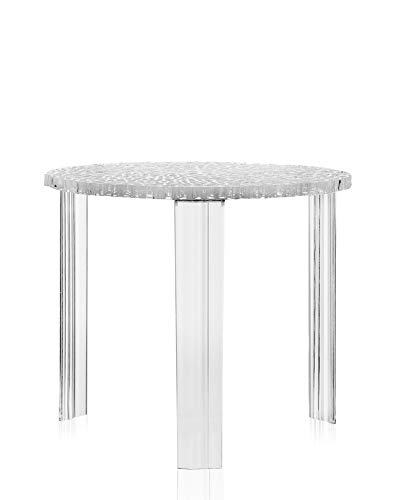 Kartell T-Table Tavolino, Cristallo, 50 x 50 x 44 cm