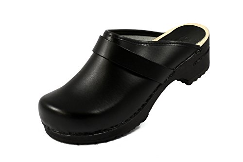 Sanita Mens Ralph Open Clogs Black