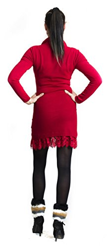 "STEKOST - Robe tunique - ""AMELINE"" Rouge"