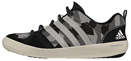 adidas Sailing Damen Herren Segelschuhe Camouflage Deckschuhe, Größe:48 EU, Farbe:Black/White/Grey
