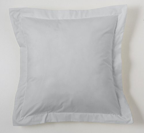 ESTELA - Funda de cojín Combi Lisos Color Perla - Medidas 55x55+5 cm. - 50% Algodón-50% Poliéster...