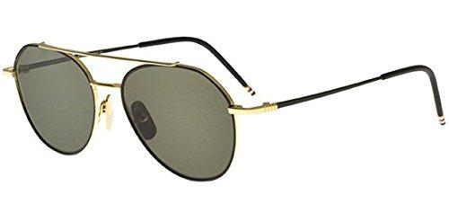 thom-browne-tb-105-black-gold-aviator-metallo-unisex