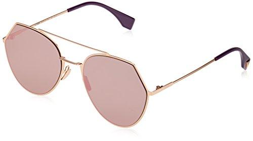 Fendi Damen FF 0194/S AP DDB Sonnenbrille, Gold Copper/Grymlt Rsgd AR, 55