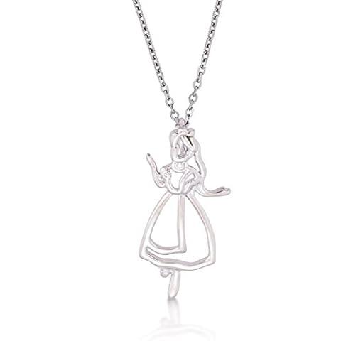 Collier Disney - Disney Couture Plaqué Or Blanc Alice au