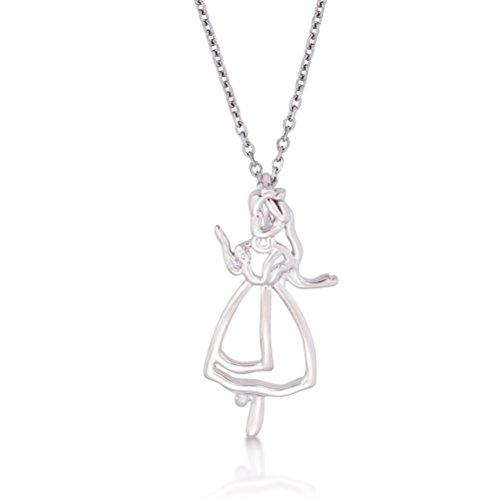 Disney Couture oro blanco Alicia en el país de las maravillas esquema Character collar