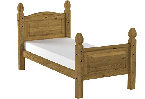 "Mercers Furniture Trade Corona Single 3'0"" High End Bed Frame Light Fiesta Wax"