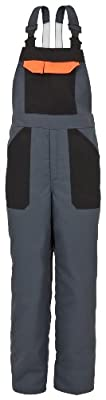 Schnittschutz-Latzhose EVO 689-0-2900-L Latzhose, EN 381-5, CE 0302 Schnittschutz DPLF geprüft (Prüfstelle KWF), 65 % Polyester, 35 % Baumwolle, Größe L, Farbe: anthrazit
