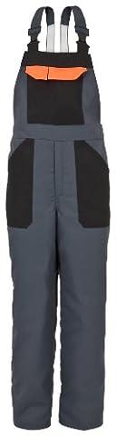 Schnittschutz-Latzhose EVO 689-0-2900-XL Latzhose, EN 381-5, CE 0302 Schnittschutz DPLF geprüft (Prüfstelle KWF), 65 % Polyester, 35 % Baumwolle, Größe XL, Farbe: anthrazit