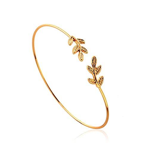 luremer-mode-neu-stil-einfach-blatt-with-kristall-cuff-armreif-06002667-gold