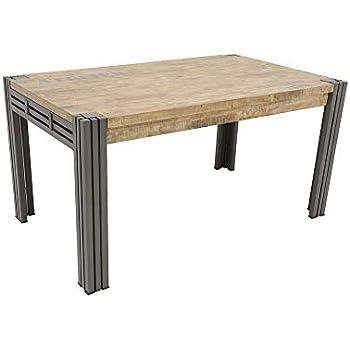 150cm Nomadde Extensible Finition Industriel Wolof Repas Table PZTOXuki
